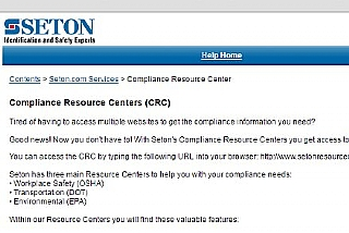 Seton Compliance Resource Center