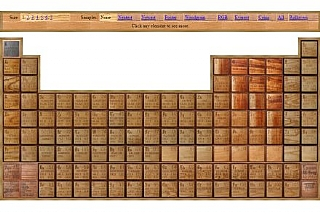 The Wooden Periodic Table